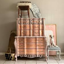 painted furniture makeover gold metallic. How To Paint Rose Gold Metallic Furniture Painted Makeover