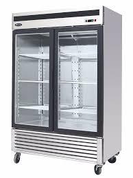 com brand new commercial 2 glass door refrigerator