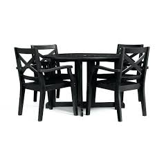 pottery barn table and chairs painted round drop leaf dining table chair set black pottery barn