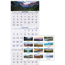 3 Page Calendar Design At A Glance Scenic Design 3 Month Wall Calendar Yes