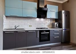 new kitchen furniture. Kitchen With Appliances And A Beautiful Interior New Furniture W