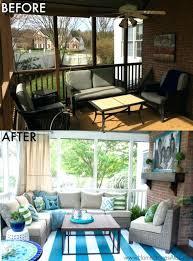 screen porch furniture ideas. Small Screen Porch Decor Idea Furniture For Enclosed And Deck Makeover Reveal Decorating Ideas E