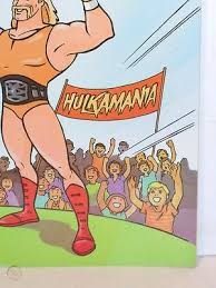 Hulk hogan in his most excited state often comes up with this. Wwf Wwe Hulk Hogan S Rock N Wrestling Coloring Book By Golden 1985 Unused 327806762