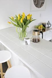 white ceramic tile countertops.  Ceramic Tiled Countertop DIY Click Through For Tutorial In White Ceramic Tile Countertops T
