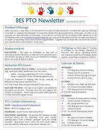 Banks Elementary Pto September Newsletter School Stuff