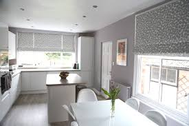 Red Roller Blinds Kitchen Striking Roman Blinds In Helens Contemporary Kitchen Diner Web
