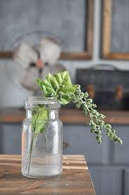 How To Decorate A Glass Jar How to Decorate with Faux Greenery Little Glass Jar 87