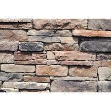 m rock appalachian ledge 100 sq ft brown stone veneer