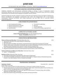 Actuary Resume Resume Sample Template 7