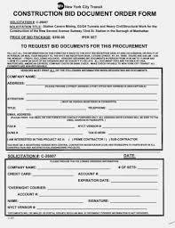 Sample Construction Estimate Form Proposal Template