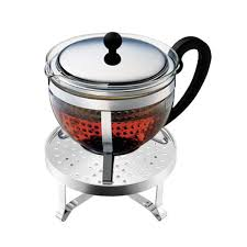 bodum chambord set with teapot and warmer