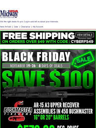 Midwayusa Black Friday Deals Continue Save 100 On 450