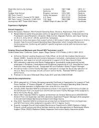 Awesome Collection of Ndt Technician Resume Sample On Cover Letter