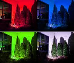 image of led landscape lighting colors