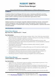 Nurse Manager Resume Beauteous Clinical Nurse Manager Resume Samples QwikResume