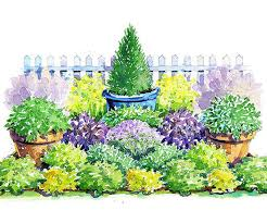 Small Picture Colorful Herb Garden Plan