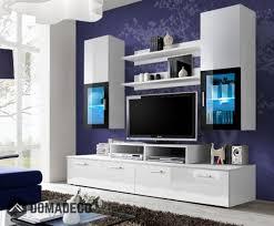 tv design furniture. Toledo 1 - White High Gloss Wall Unit Tv Design Furniture