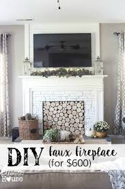 diy faux fireplace for under 600 the big reveal