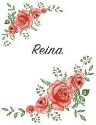 Floral Design By Reina Reina Personalized Composition Notebook Vintage Floral