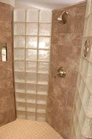 doorless walk in shower ideas walk in shower interior with glass blocks small doorless walk in shower designs