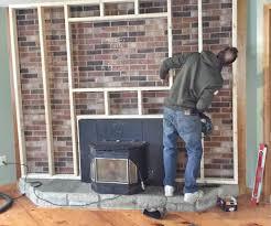 large size of artistic brick fireplace makeover brick to stone veneer fireplace makeover howto do