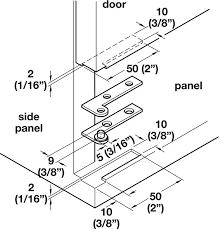 corner pivot hinge straight 250