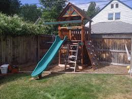 swing set play set installations small backyard play structures