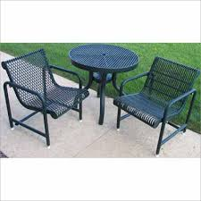 30 inch round patio table expanded metal mesh