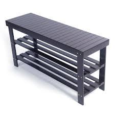 3 tier bamboo shoe rack bench storage shelf organizer diy entryway bench shoe rack