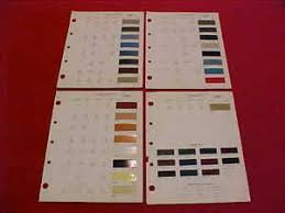 Details About 1969 Charger Coronet Cuda Dodge Plymouth Color Paint Chips Chart Brochure 69