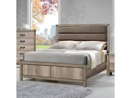 Crown Mark Matteo Queen Upholstered Low Profile Bed | Royal ...