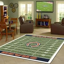 miraculous chicago bears rug of rugs 8 nfl football field area fan football field rugs college