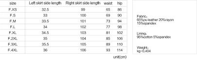 Punk Rave Size Chart Latexity Skirt