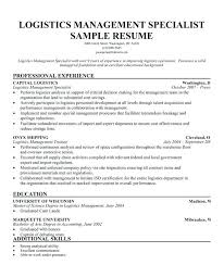Logistics Management Specialist Resume Sample Best Of Supply Management Specialist Usajobs Logistics Ent Resume Logistic