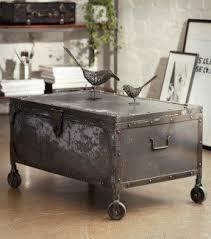 metal trunk coffee table