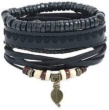 Reiko Punk Rope <b>Braided</b> Set <b>3 Pcs</b> Bracelet <b>Antique Vintage</b> ...