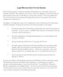 Memo Format Templates Legal Memorandum Template