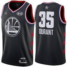 Durant Black Jersey Warriors Kevin