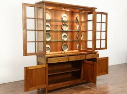 Hutch Display Cabinet Sold Stickley Signed Cherry Craftsman Design 1995 China Display