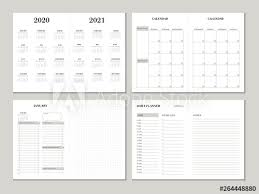 Planner 2020 Template Planner Design Template For 2020 2021 Year Weekly And