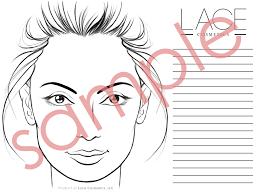 Blank Face Chart Face Chart Pdf Lace Cosmetics