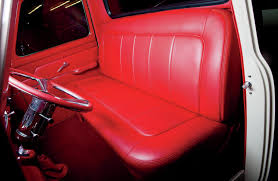 1953 ford f 100 interior red leather bench seat