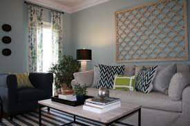 example of a small transitional enclosed dark wood floor living room design in other with blue