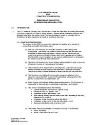 25 Printable Statement Of Work Example Construction Forms