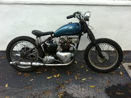 smoke and throttle new toy 1951 triumph 5t speed twin bobber