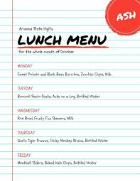 Free School Lunch Menu Templates Best Of Background Template ...