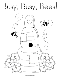 Small Picture Busy Busy Bees Coloring Page Twisty Noodle