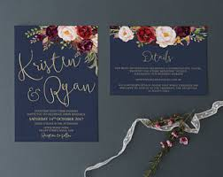 wedding invitations etsy au Hardcover Wedding Invitations Australia wedding invitation printable wedding invitation wedding invitations navy gold marsala wedding digital Autumn Wedding Invitations