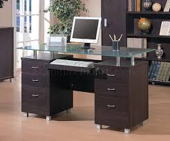 office glass desks. Wondrous Modern Home Office Glass Desk Winsome Inspiration Top Cover: Full Desks S