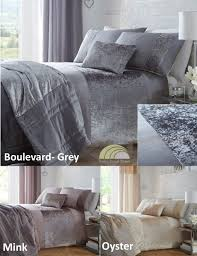 full image for gorgeous crushed velvet duvet cover 125 silver crushed velvet bedding sets modern velvet